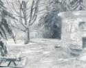 1986 Snow Yard_20-5x26-5_oil on paper_433
